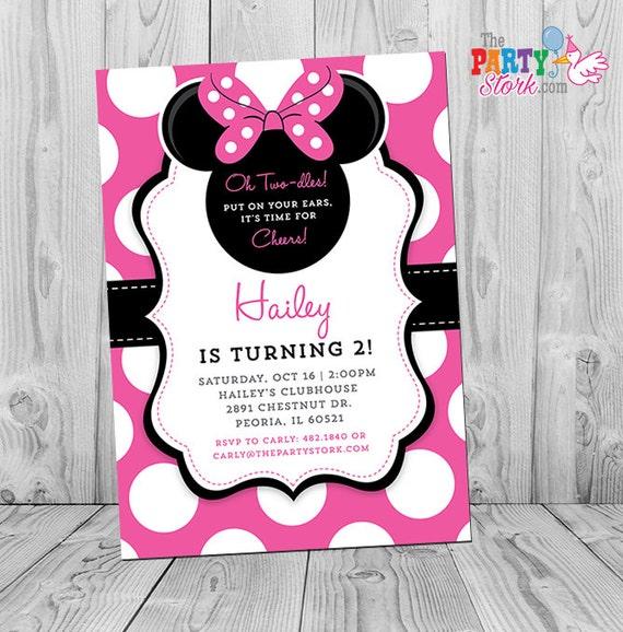 Minnie Invitation Minnie Mouse Party Minnie Mouse Invite
