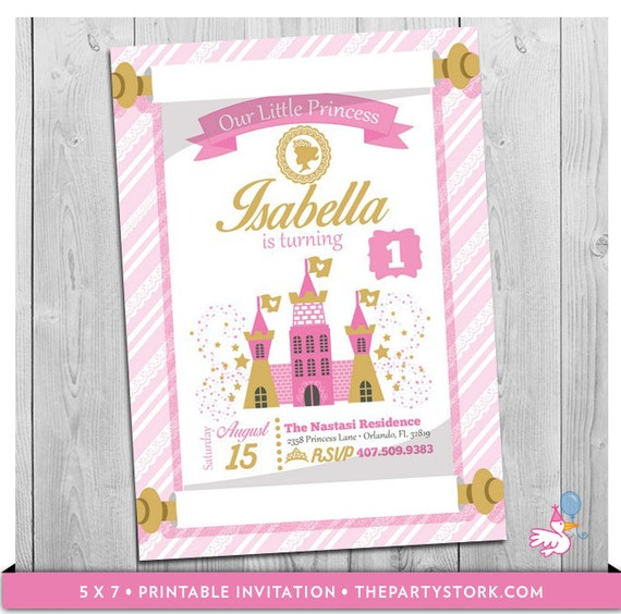 princess invitation princess birthday invitation printable