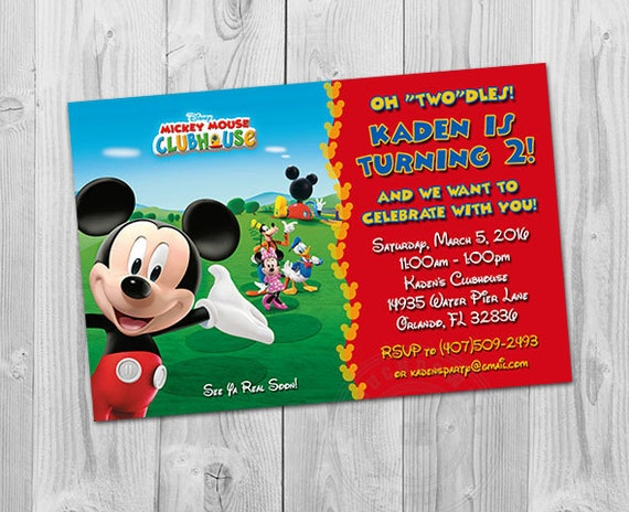 Mickey Mouse Clubhouse Invites Mickey Mouse Clubhouse Birthday