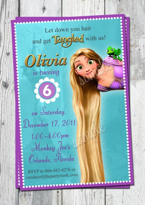 Tangled Invitation Birthday Rapunzel