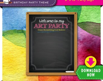 Rainbow Art Party Crayon Coloring Sheet | Kids Printable | Paint Theme | Birthday | Instant Download | Check our Shop for More Decorations