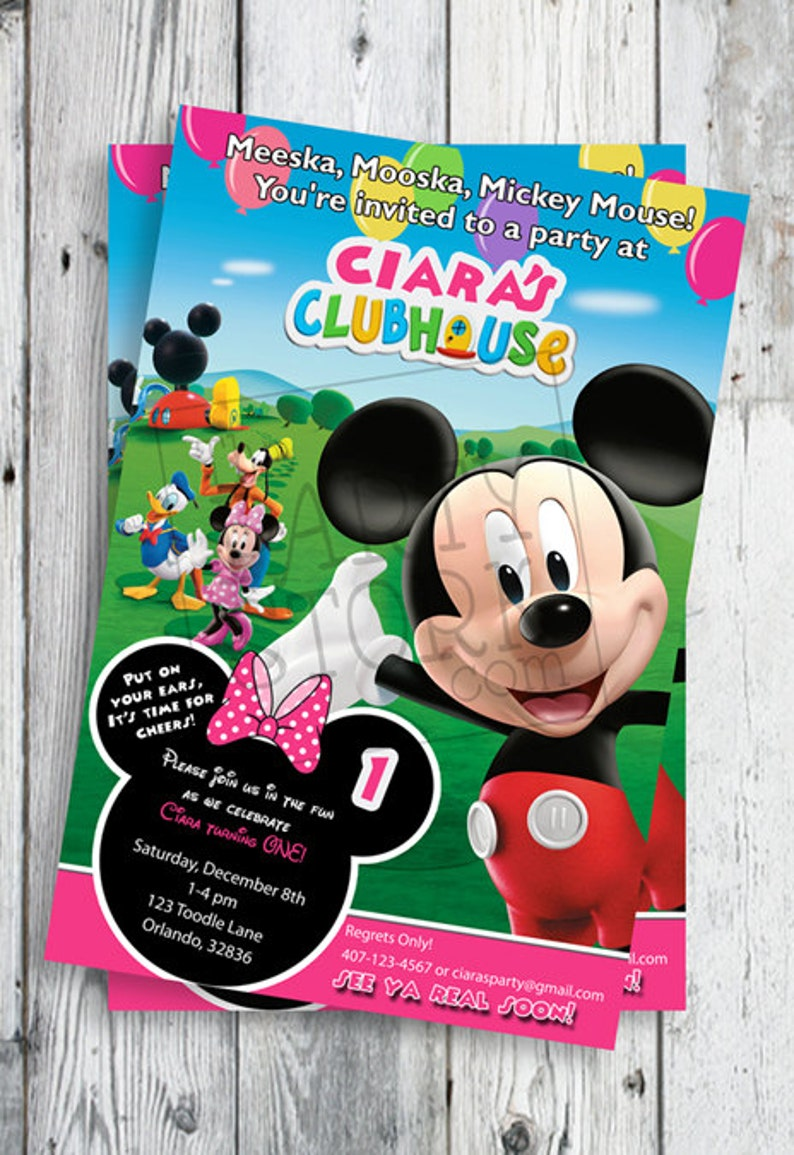 Minnie Mouse Invites First Birthday