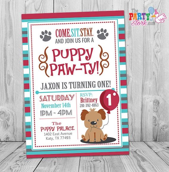 puppy invitation boy puppy birthday invitation printable puppy