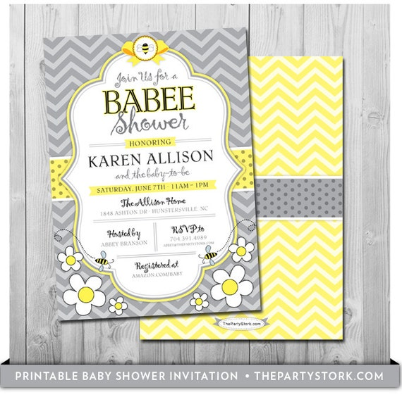bee baby shower invitation printable mommy to bee invitations free