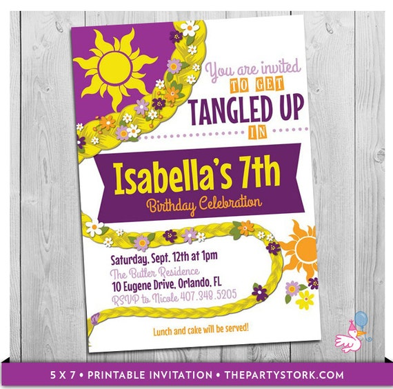 Tangled invitation tangled birthday tangled party tangled il570xn filmwisefo