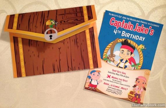 Jake And The Neverland Pirate Invitations