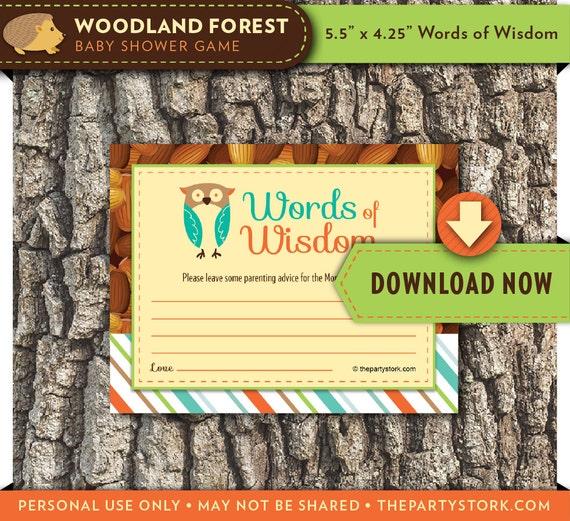 Woodland Baby Shower Games
