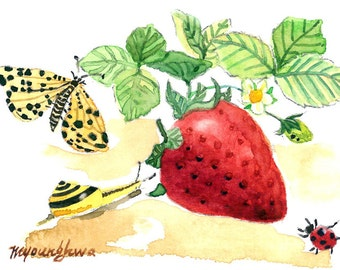 ACEO Limited Edition - Strawberry season