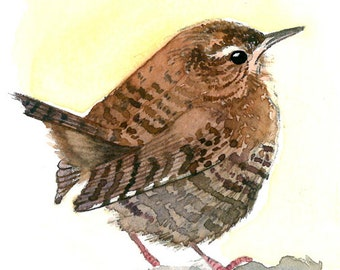 ACEO Limited Edition - Wren's perspective, in watercolor