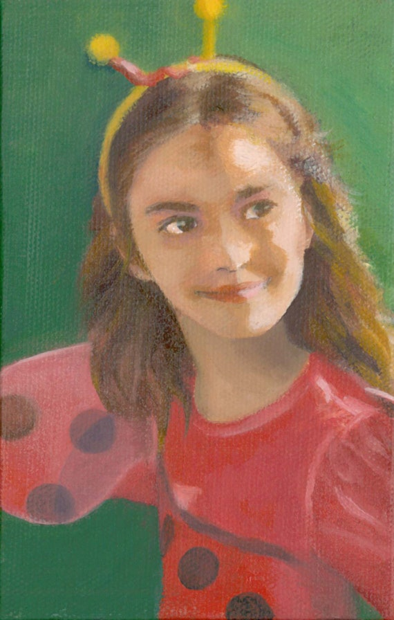 Painting of Child 5x7  Original Oil Painting on Canvas  Classical Fine Art