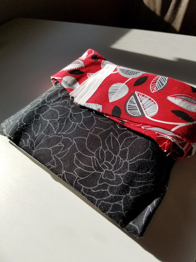 Stars in My Garden Quilt Kit in Red Black and Gray
