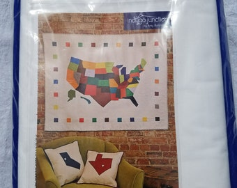 Modern America Quilt Kit - Map of USA wall quilt kit