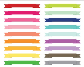 Flat Ribbon Banner Frames Labels Tags 21 Pieces For Etsy