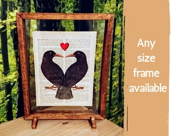 Simple Wooden Double Sided Picture Frame - Landscape or Portrait Frame, Custom Picture Frame, Personalized Gift For Him, Custom Framing