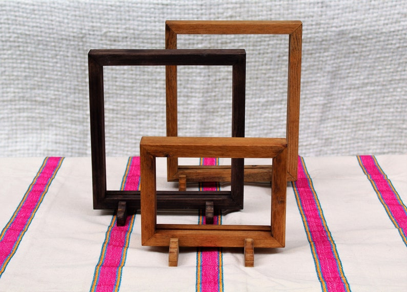 Simple Wooden Double Sided Picture Frame  Portrait or image 1