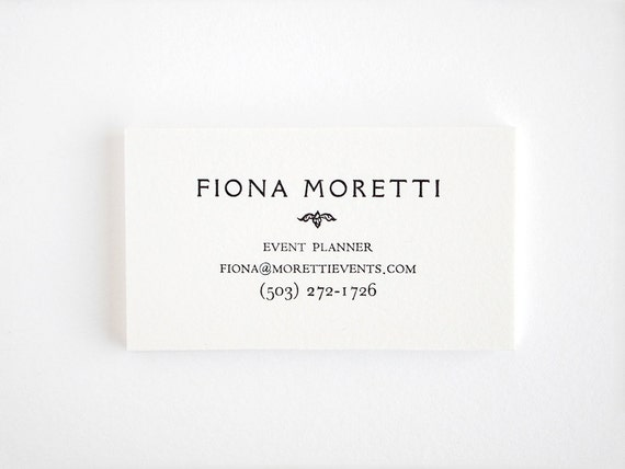 Elegant letterpress business cards personalized vintage etsy reheart Images