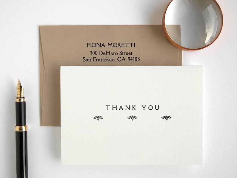 Custom Printing Bulk Order Rialto Thank You Cards Folded Wedding Elegant Style