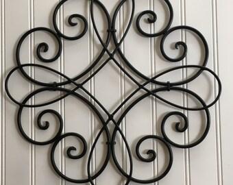More Colors. Metal Wall Art Black ...