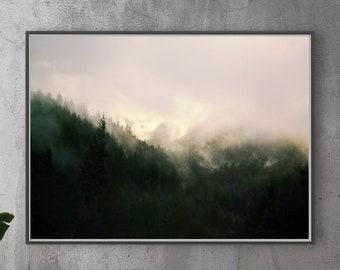 Forest Art.Wall Decor.Oregon.Large Art.Trees.Mist.Pacific Northwest.Fog.Fine Art Photography.Rain Forest.SEVERAL SIZES
