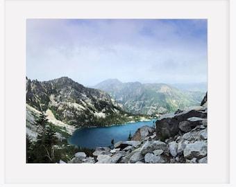 Wall Art.AlpineLake.Decor.Washington.Wall Art.Alpine Lake.Mountain.Forest.Decor.Colchuck Lake.Asgard Pass.The Enchantments.