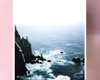 Wall Art.Oregon Ocean.Cliff.Fine Art Photography.fm photograph.35mm Film.Art Print.Wall Decor.Art Decor.Large Photo Print.SEVERAL SIZES