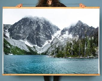 Wall Art.AlpineLake.Decor.Washington.Wall Art.Alpine Lake.Mountain.Forest.Decor.Colchuck Lake.Dragontail Peak.The Enchantments.SEVERAL SIZES