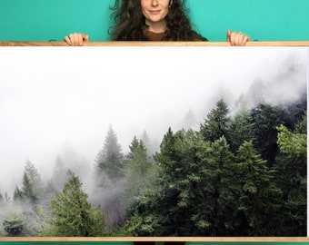 Forest Art.Mist.Trees.Wall Decor.Fine Art Photography.Washington.Pacific Northwest.PNW.SEVERAL SIZES & poster option