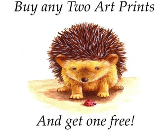 Children's Art -  Three Prints for the Price of Two