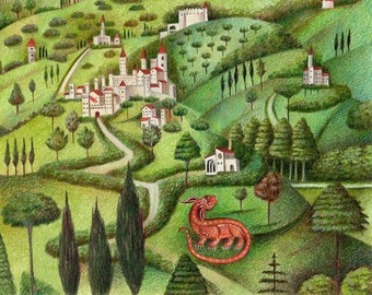 Tuscany Art Print from an original painting