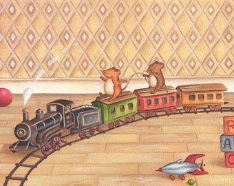 Nursery Art Choo Choo Train