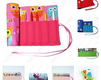 Crayon Roll / Crayon Wallet / Crayon Holder
