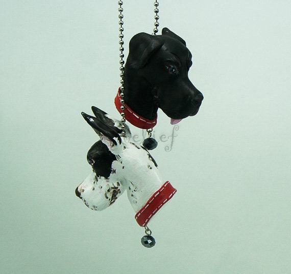 French Bulldog Ornaments day of dead charm hang rear view mirror for car