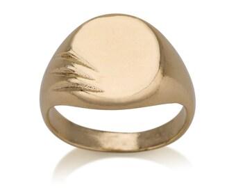 Grazed Signet Pinky Ring