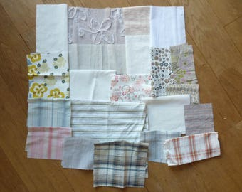 set of 128 patchwork fabrics coupons