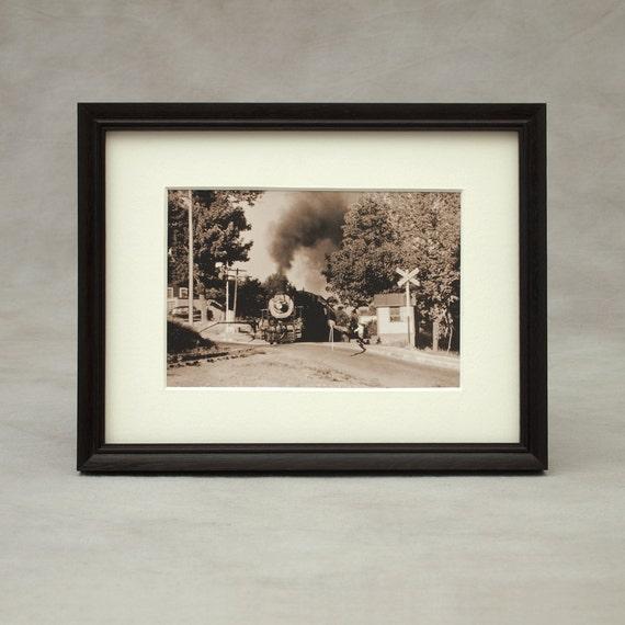 6 1/2 x 8 1/2 marco de foto de madera exótica finamente | Etsy