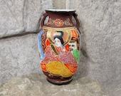 Vintage Satsuma Moriage Mini Vase