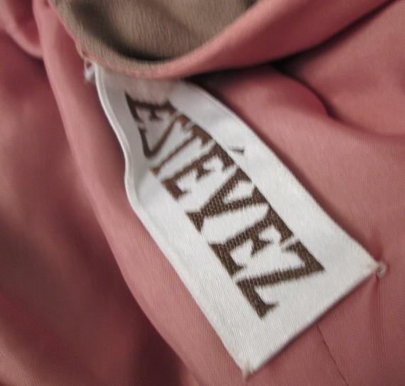 Vintage NWT Estevez Taupe Sash Detail Dress - image 3
