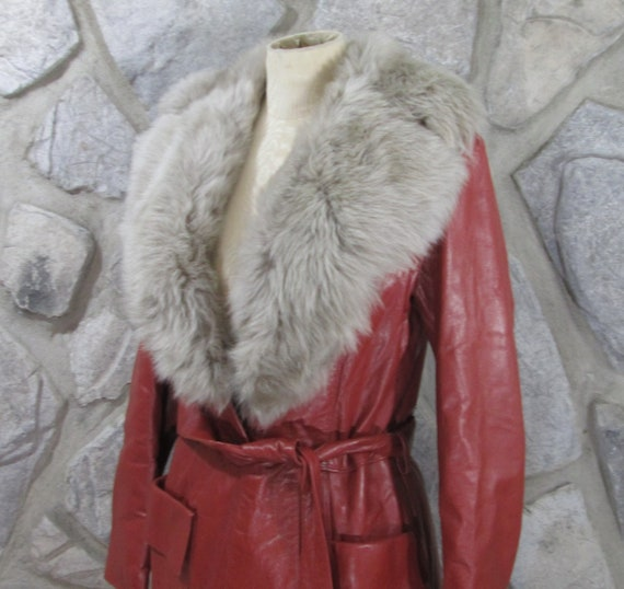 Vintage 1970's German Leather Trench Coat - image 2