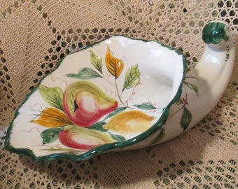 Vintage Italian Ceramic Cornucopia