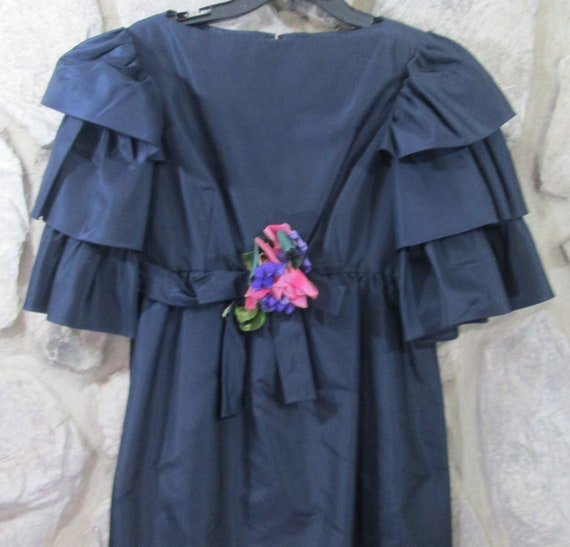 Vintage Kiki Hart Navy Evening Dress