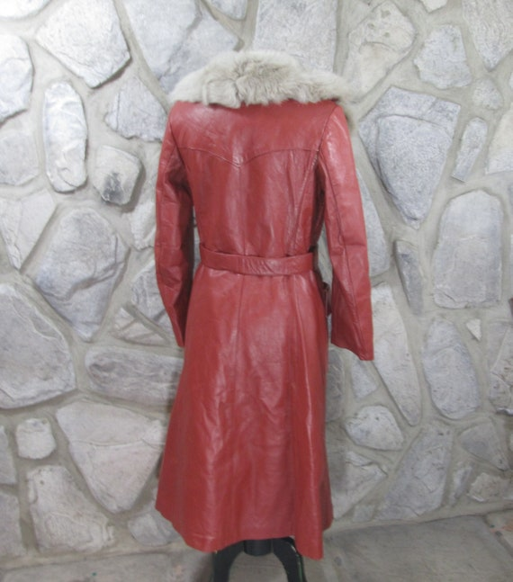 Vintage 1970's German Leather Trench Coat - image 3