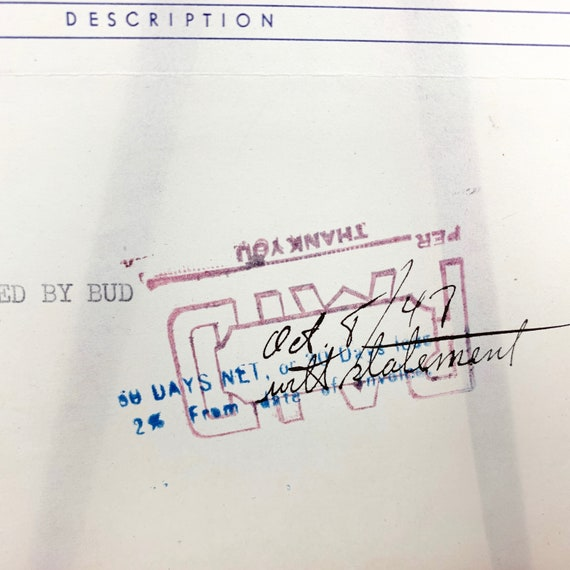 Casket Company Invoice, Richco Caskets, Richmond, VA History, Rare Beauty