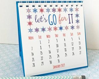 2019 Inspirational Quotes Desk Calendar Etsy