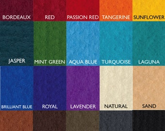100% Merino Wool Prefelt, 19.5 micron, Over 15 colors, Felting, Felt, Prefelt, Feltmaking, Wet Felting, Nuno Felting, Waldorf, Pre Felt