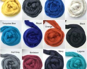 100% Merino Wool Roving, 19.5 Micron, for Felting, Spinning, Knitting, Super Fine Top, Fiber Art Supplies, Fibre, Weaving, Nuno Felting