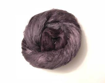 Hand-Dyed Silk Bricks A1 quality. 100% Silk Fiber known as Mulberry Silk for Felting, Spinning, Knitting, SILVER Fiber Art, Felt.