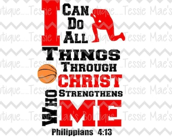 I Can Do All Things Through Christ Soccer Svg Dxf Eps Etsy