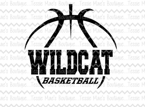 wildcat basketball svg dxf eps instant download etsy