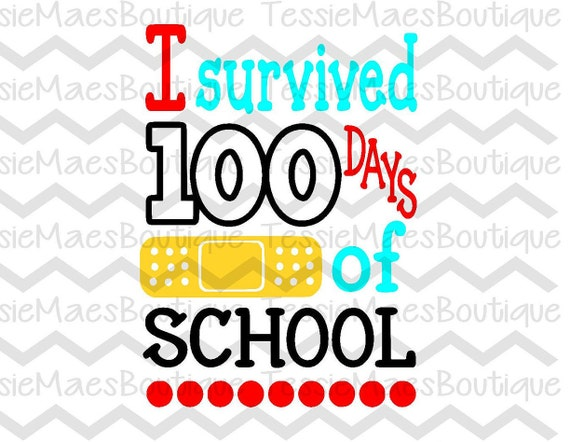 photo regarding 100 Days Printable titled I survived 100 times of faculty, 100 times smarter, SVG, DXF, EPS, Png, Chopping History, Printable, Silhouette, Cricut, TessieMaes, Faculty Blouse