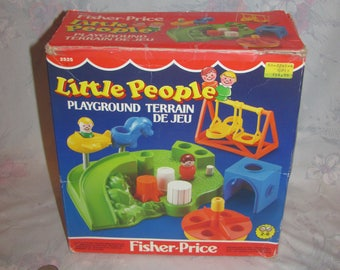 Vintage 1986 Fisher Price Little People Playground 2525 Complete in Box